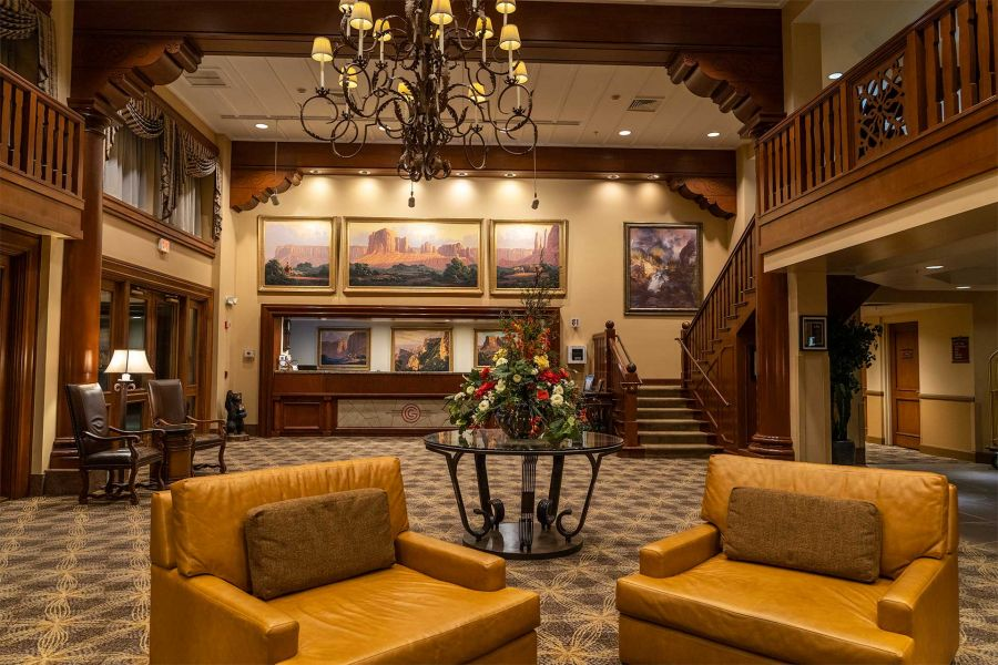 Grand Canyon Railway Hotel Lobby Front Desk