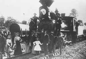 First Passenger Train - 09-17-1901