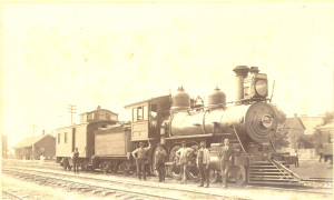 Steam Locomotive in Williams, AZ - ca.1900