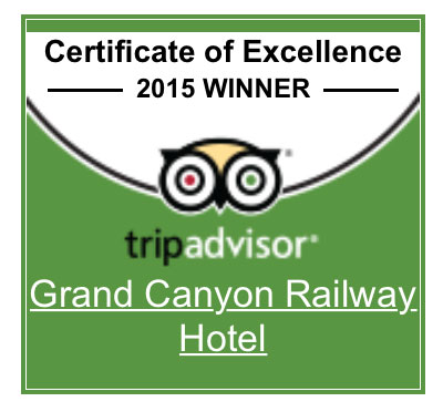 Grand Canyon Railway Hotel TripAdvisor Badge