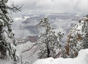Grand Canyon in winter - ca.1925